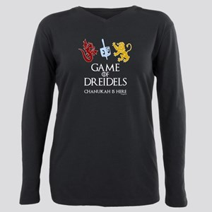Game of Dreidels Plus Size Long Sleeve Tee