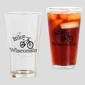 Bike Wisconsin Drinking Glass
