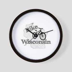 Bike Wisconsin Wall Clock