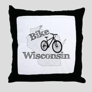 Bike Wisconsin Throw Pillow