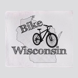 Bike Wisconsin Throw Blanket