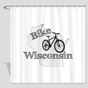 Bike Wisconsin Shower Curtain