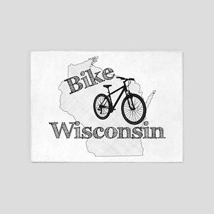 Bike Wisconsin 5'x7'Area Rug