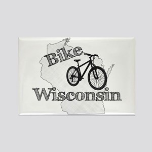 Bike Wisconsin Rectangle Magnet