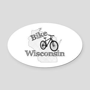 Bike Wisconsin Oval Car Magnet