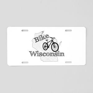 Bike Wisconsin Aluminum License Plate