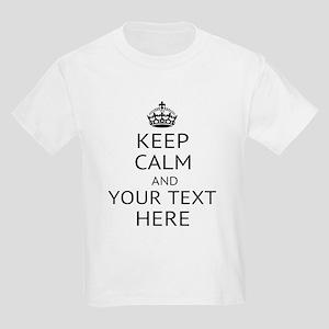 Custom keep calm Kids Light T-Shirt