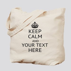 Custom keep calm Tote Bag