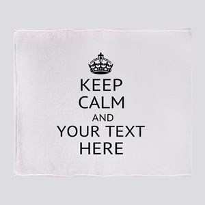 Custom keep calm Throw Blanket