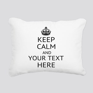 Custom keep calm Rectangular Canvas Pillow