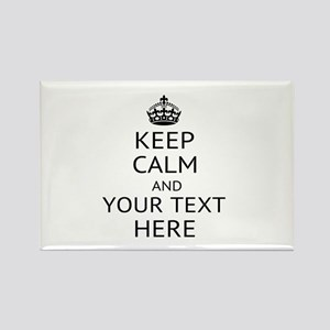 Custom keep calm Rectangle Magnet (10 pack)