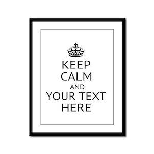 Custom keep calm Framed Panel Print