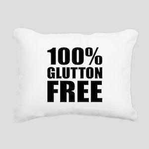 100% Glutton Free Diet H Rectangular Canvas Pillow