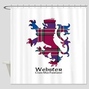 Lion-Webster.MacFarlane Shower Curtain