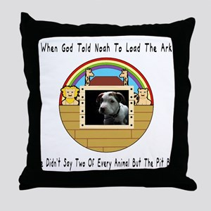 But The Pit Bull Throw Pillow