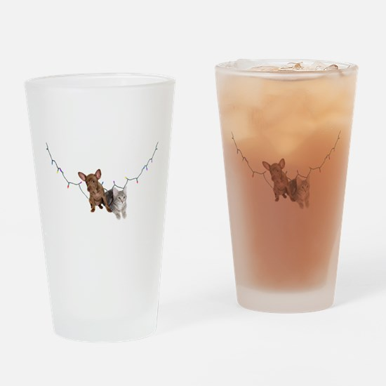 Holiday pets Drinking Glass