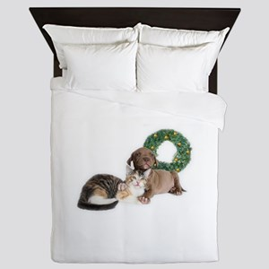 Ring in the new year with shelter pets Queen Duvet