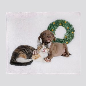 Ring in the new year with shelter pets Throw Blank