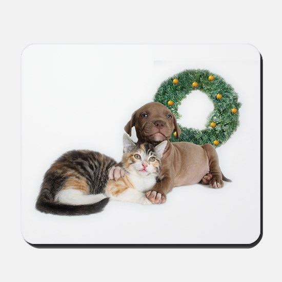 Ring in the new year with shelter pets Mousepad