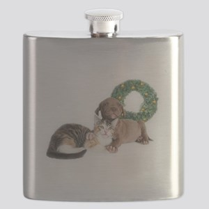 Ring in the new year with shelter pets Flask