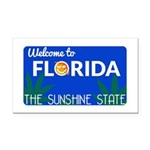 Welcome to Florida Rectangle Car Magnet