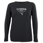 Florida Cannabis White Plus Size Long Sleeve Tee