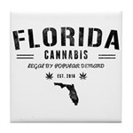 Florida Cannabis Tile Coaster