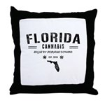 Florida Cannabis Throw Pillow