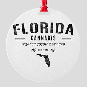 Florida Cannabis Round Ornament