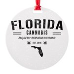 Florida Cannabis Round Ornament