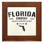 Florida Cannabis Framed Tile