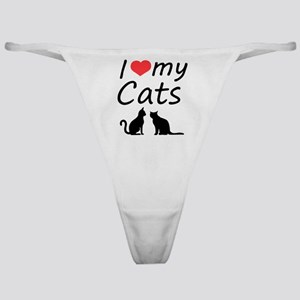 I love my cats Classic Thong
