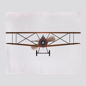 Biplane Throw Blanket