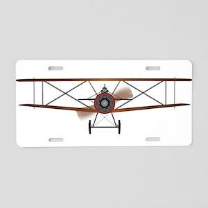 Biplane Aluminum License Plate