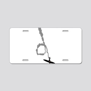 Spiraling Down Aluminum License Plate