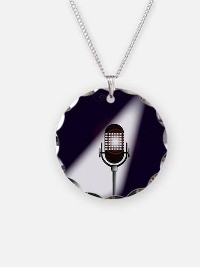 Retro Microphone Necklace