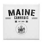Maine Cannabis Tile Coaster