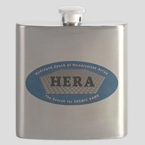 HERA Logo Flask