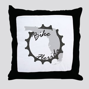 Bike Florida Throw Pillow