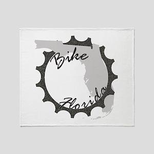 Bike Florida Throw Blanket