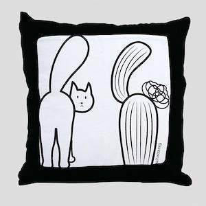 Cat catus Throw Pillow