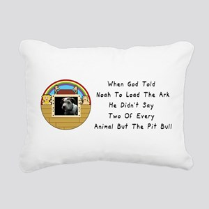 But The Pit Bull Rectangular Canvas Pillow