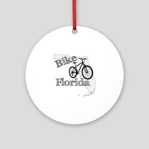 Bike Florida Round Ornament