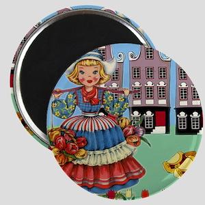 Vintage Ducth Girl Magnets