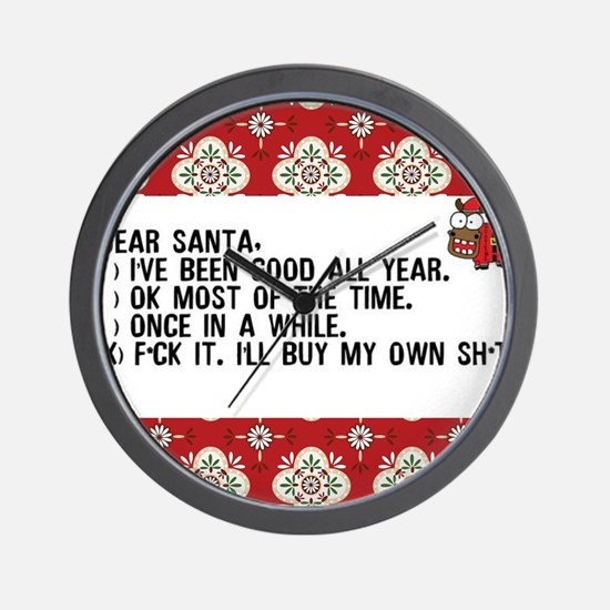 Unique Christmas Wall Clock