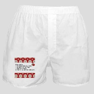 Dear Santa..adult humor Boxer Shorts