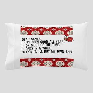 Dear Santa..adult humor Pillow Case