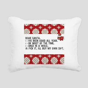 Dear Santa..adult humor Rectangular Canvas Pillow
