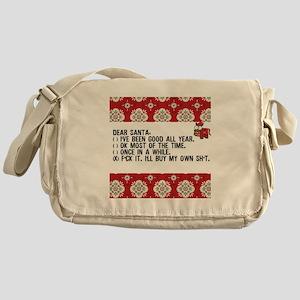 Dear Santa..adult humor Messenger Bag