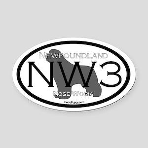 Nose Work 3 Oval Car Magnet